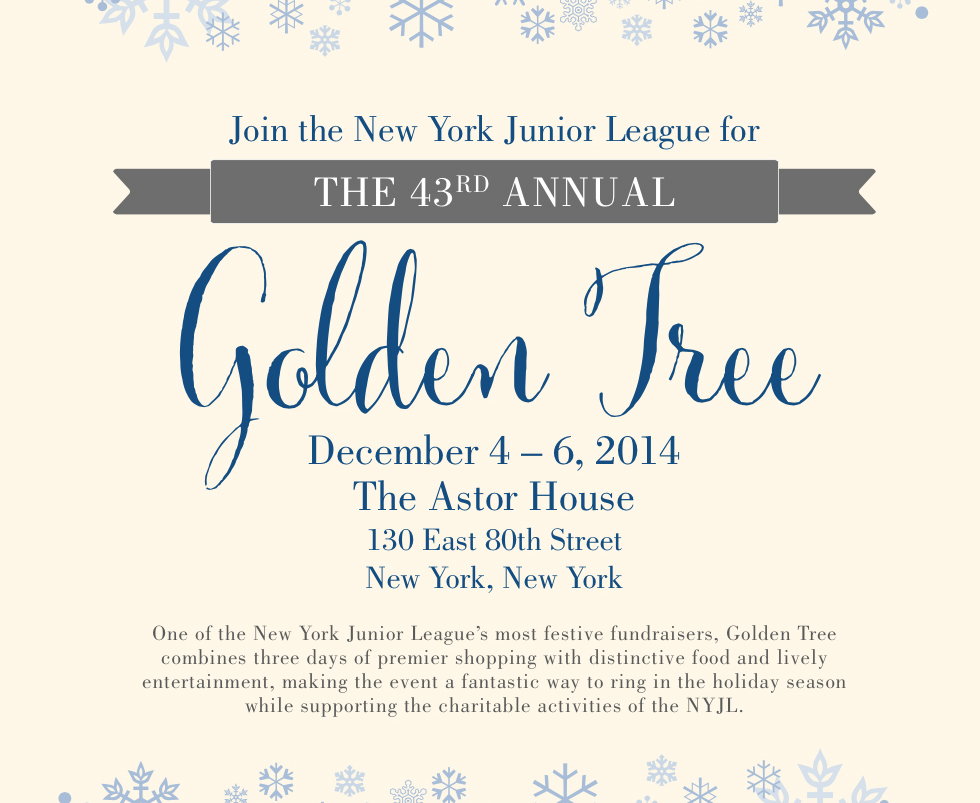 The New York Junior League's Most Festive Fundraiser: Golden Tree